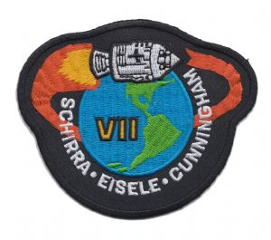 NASA Apollo 7 Patch Black background Mission Patch (1)